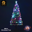 Pre Lit White//Green Christmas Tree Fibre Optic LED Lights Star 4ft 5ft 6ft 7ft