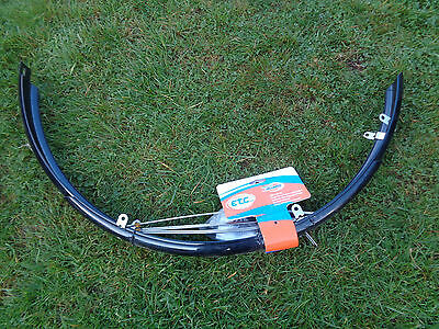 NEW PAIR OF ETC BLACK BIKE FULL MUDGUARDS FOR 700C WHEELS - 38-45C TYRE WIDTH
