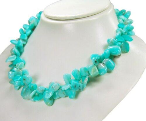 Encantadora cadena de andenopal en azul-verde astilla formado zweireihig