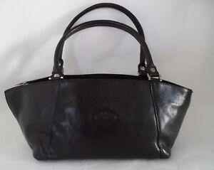 Double Strap Handbag Bag Leather Alex Black Italian Pelle T1FqwF0OY