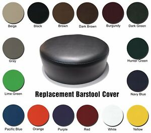 Image is loading BAR-STOOL-COVER-Heavy-Duty-Replacement-STAPLE-ON-  sc 1 st  eBay & BAR STOOL COVER Heavy Duty Replacement STAPLE ON Seat Vinyl - Pub ... islam-shia.org