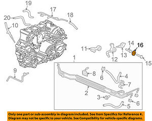 Surprising Acura Honda Oem 01 06 Mdx 3 5L Transmission Oil Cooler Sealing Ring Wiring 101 Tzicihahutechinfo