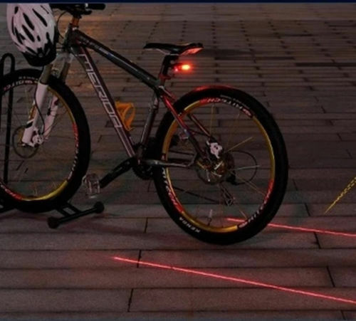 Bicycle Bike Rear Tail Cycling Commuter Safety Warning  Light 5 LED 2 Laser