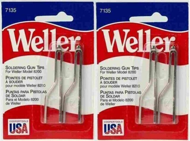 Weller 7135W Pack of 2 Soldering Gun Replacement Tips for 8200 AUTHORIZED DIST