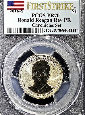 2016 S $1 Ronald Reagan Dollar PCGS PR70DCAM