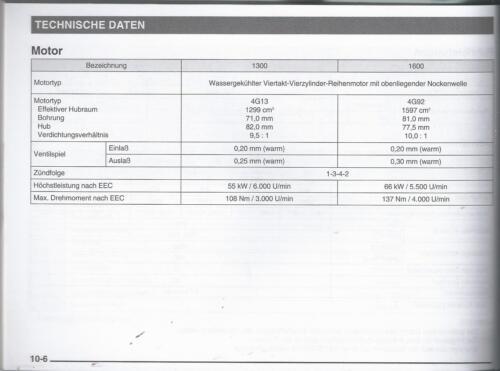 MITSUBISHI  COLT 5 Betriebsanleitung 1999 Bedienungsanleitung Handbuch BA