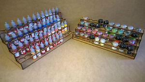 Paint Stand 52 bottle 40 pot rack storage warpaint Vallejo warhammer 40k wargame