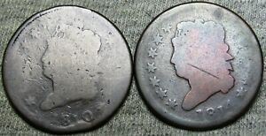 1810 1814 Classic Head Large Cent Penny Type Coin Lot ---- L@@K ---- #L219