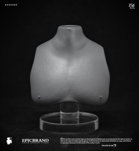 """FAT BUST FOR 1//6 BODY ACTION FIGURE,DOLL,EPICBRAND,HOT TOYS,DAM,12/"""",SOPRANOS,NEW"""