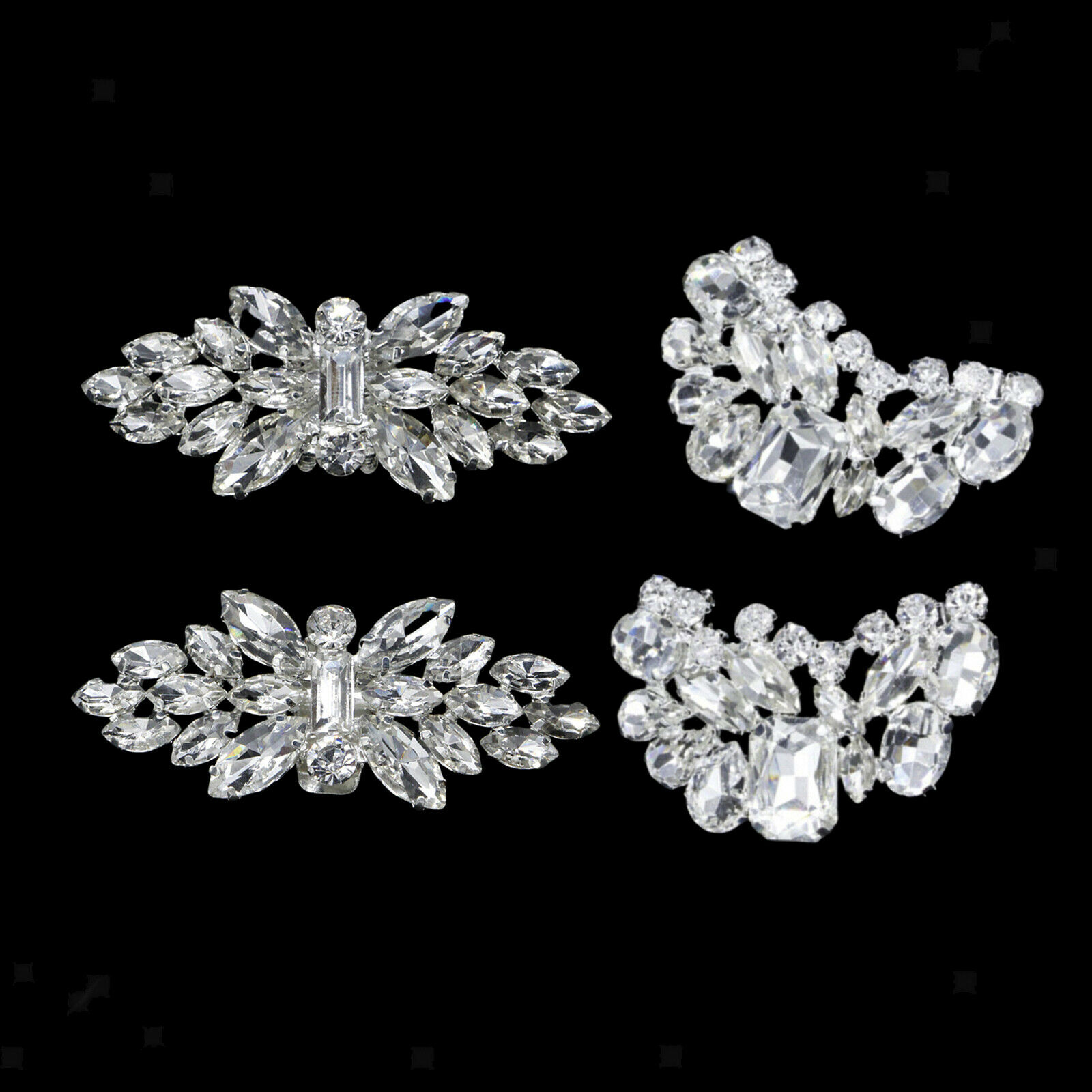 1 Pair Rhinestone Crystal Shoe Clips Ladies Party Prom Shoe Buckle Decor
