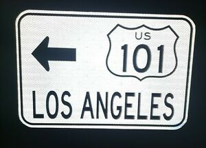 LOS-ANGELES-Route-101-road-sign-CAL-TRANS-California-Dodgers-Angels-MLB