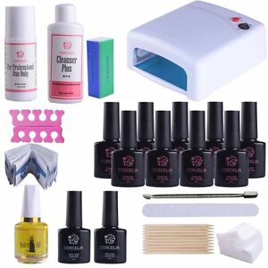 hot uv led smalto gel unghie deluxe starter kit set 36w. Black Bedroom Furniture Sets. Home Design Ideas