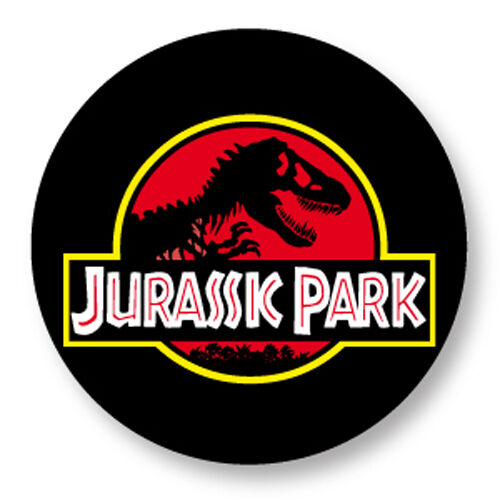 "Pin Button Badge Ø25mm 1/"" Jurassic Park Film Movie Steven Spielberg Dinosaure"