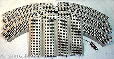 """Lionel Fast Track w/ 8-O36 Curve, 3-10"""" Straight and 1-Terminal Section 40X60"""