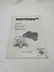Nintendo 64 Game Console Instruction Booklet AUTHENTIC MANUAL ONLY