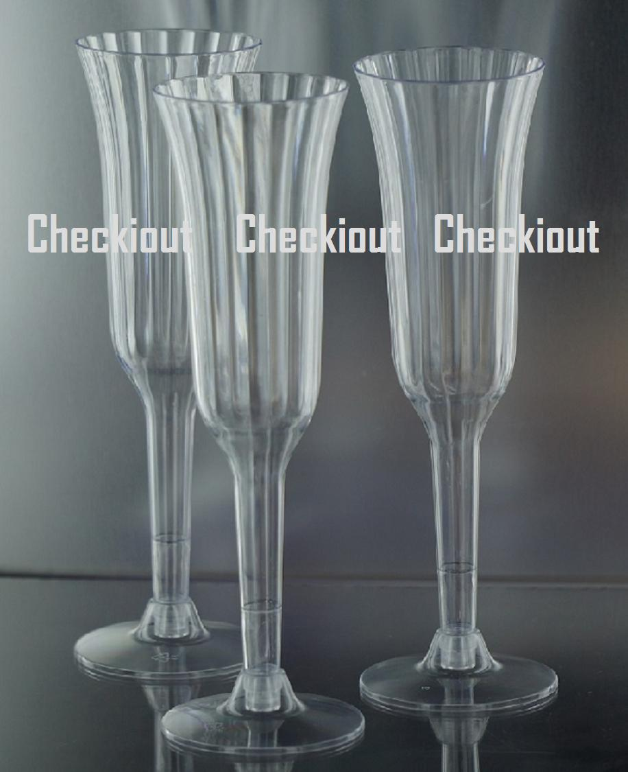 120 240 WEDDING Party Event Plastic Champagne Wine Martini Flutes Cups Glasses