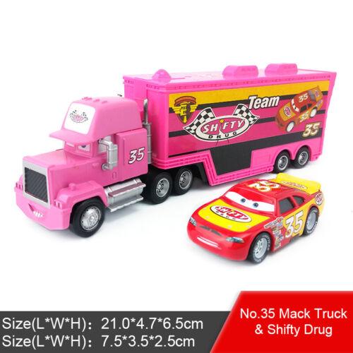 Disney Pixar Cars Mack Racers Truck /& Racers Spielzeug Auto 1:55 Kinder Geschenk
