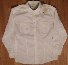 NWT, POINT ZERO, Military Style, White, Long Sleeve  Sz XL 100% Cotton. (LS-528)