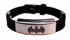 New Men's Black Batman Superhero Bracelet Wristband Fashion Gift Stainless Steel