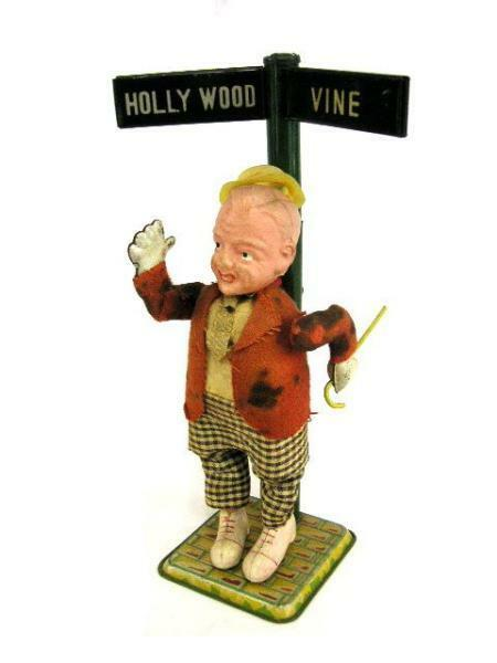 Alps Toys Fred Astaire Tap Dance Spring Vintage Tin Doll Occupide Japan F S