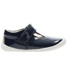 Toddler-First-Steps-Clarks-Roamer-Go-Navy-Patent-Shoes-Size-UK-2HRRP-26