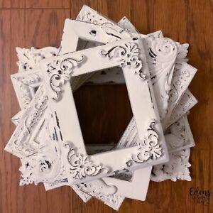 6-ORNATE-FRAMES-Shabby-White-PETITE-SET-WHITE-BOHO-CHIC-Empty-Gallery-Style
