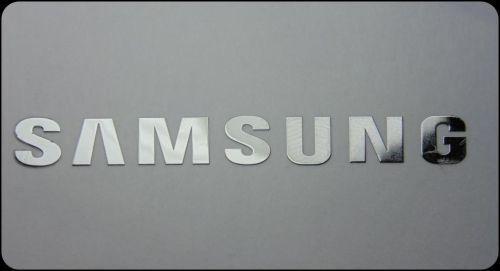 Samsung metalissed chrome efect sticker logo badge 50 mm x 8 mm ebay