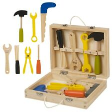 Classic 8pc Wooden Tool Set Children Toy Building Kit Builder Play Gift Hammer
