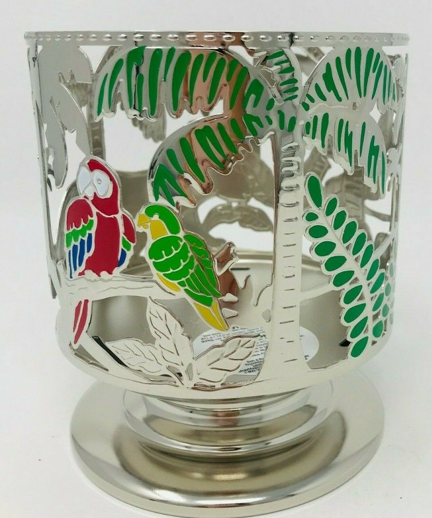 BATH /& BODY WORKS JUNGLE CRITTERS CHEETAH PALM TREES 3 WICK CANDLE HOLDER NEW