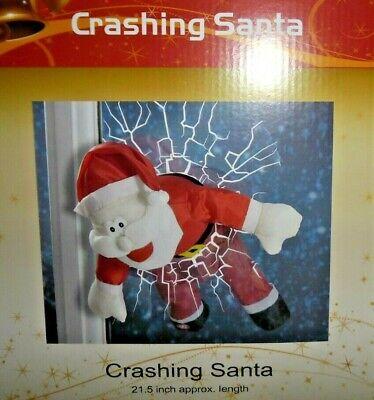 Crashing Santa Window Decoration