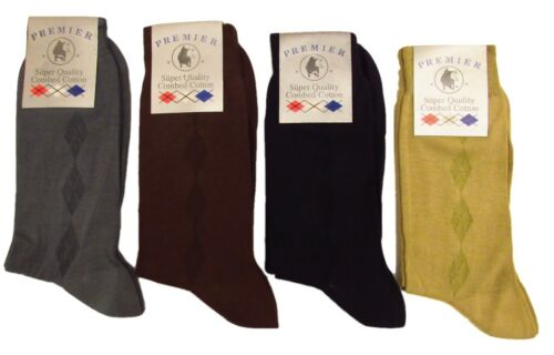 4 X Hommes Premier Luxury formelle coton peigné Lumière Summer Socks 6-11