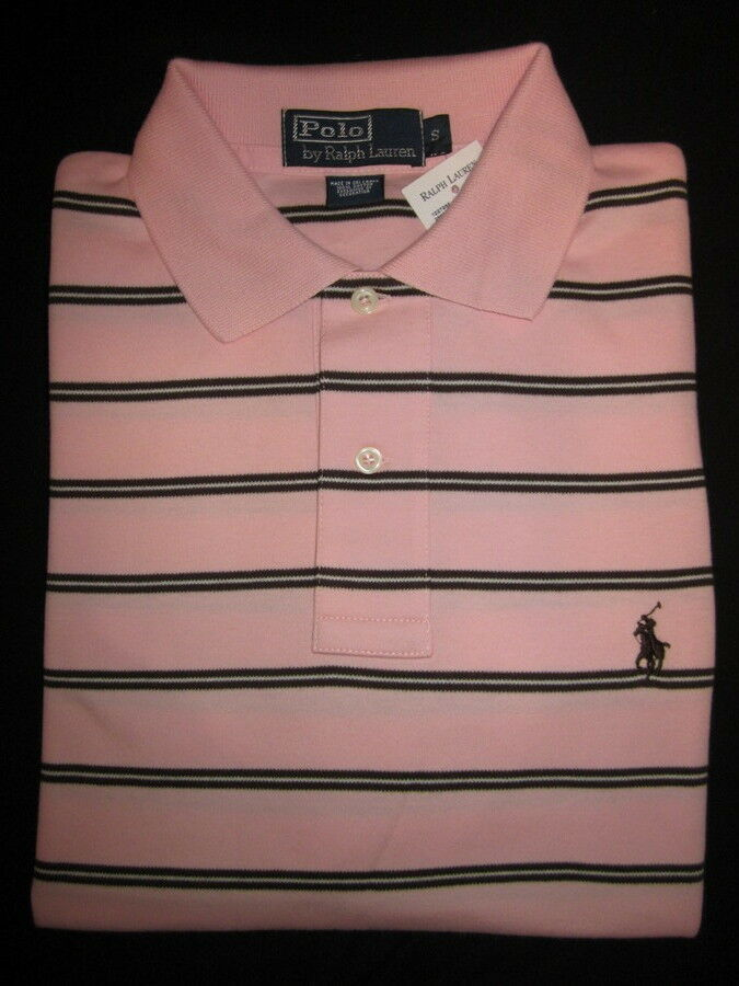 Ralph LaurenPINK STRIPED POLO SHIRT CLASSIC FIT NWT XXL