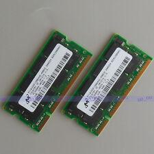 Micron 2GB 2X1GB DDR400 PC3200 sodimm 400Mhz laptop Notebook low density memory