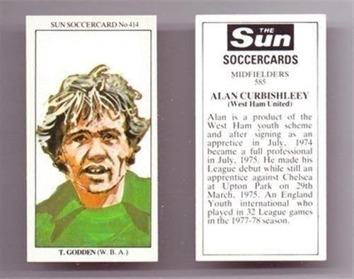 Sun soccercards 1978 1979 tarjetas de un solo jugador de fútbol-varios 401-500