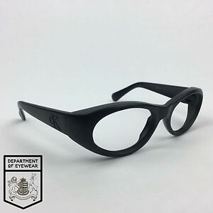 a05615de407a Image is loading CALVIN-KLEIN-eyeglass-BLACK-frame-OVAL-Authentic-MOD-