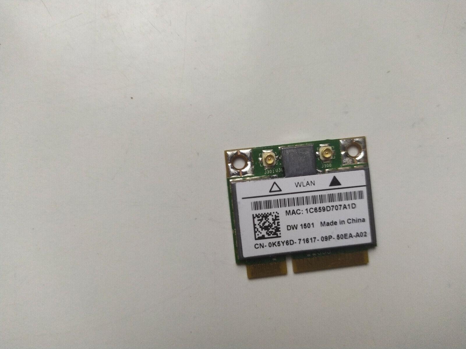 Dell Inspiron 15 N5010 WiFi Wireless Card 0K5Y6D K5Y6D DW 1501