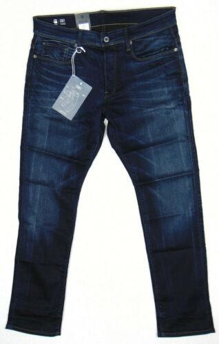 G-Star Raw 3301 Tapered Med Aged W33 L32 Slander Blue Superstretch Denim Jeans