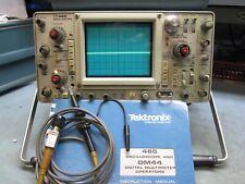 Tektronix 465 100 Mhz Analog Oscilloscope With Probe And Manual Very Nice