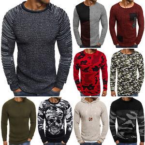 b3600161a76812 Das Bild wird geladen Strickpullover-Pullover-Sweater-Pulli-Sweatshirt- Herren-OZONEE-MADMEXT-