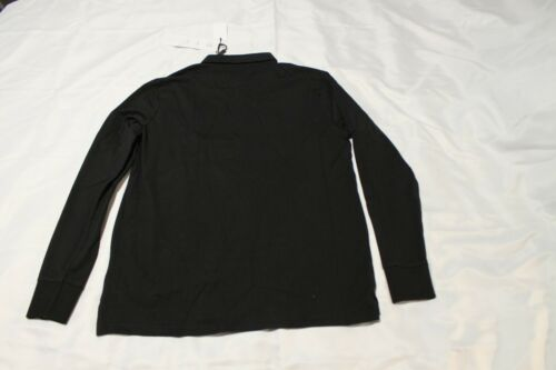 Brand New John Richmond black long sleeve Tyson Polo shirt size M