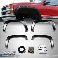 Pocket Riveted Abs Side Wheel Fender Flares For 88-98 Chevy/gmc C/k-series Truck