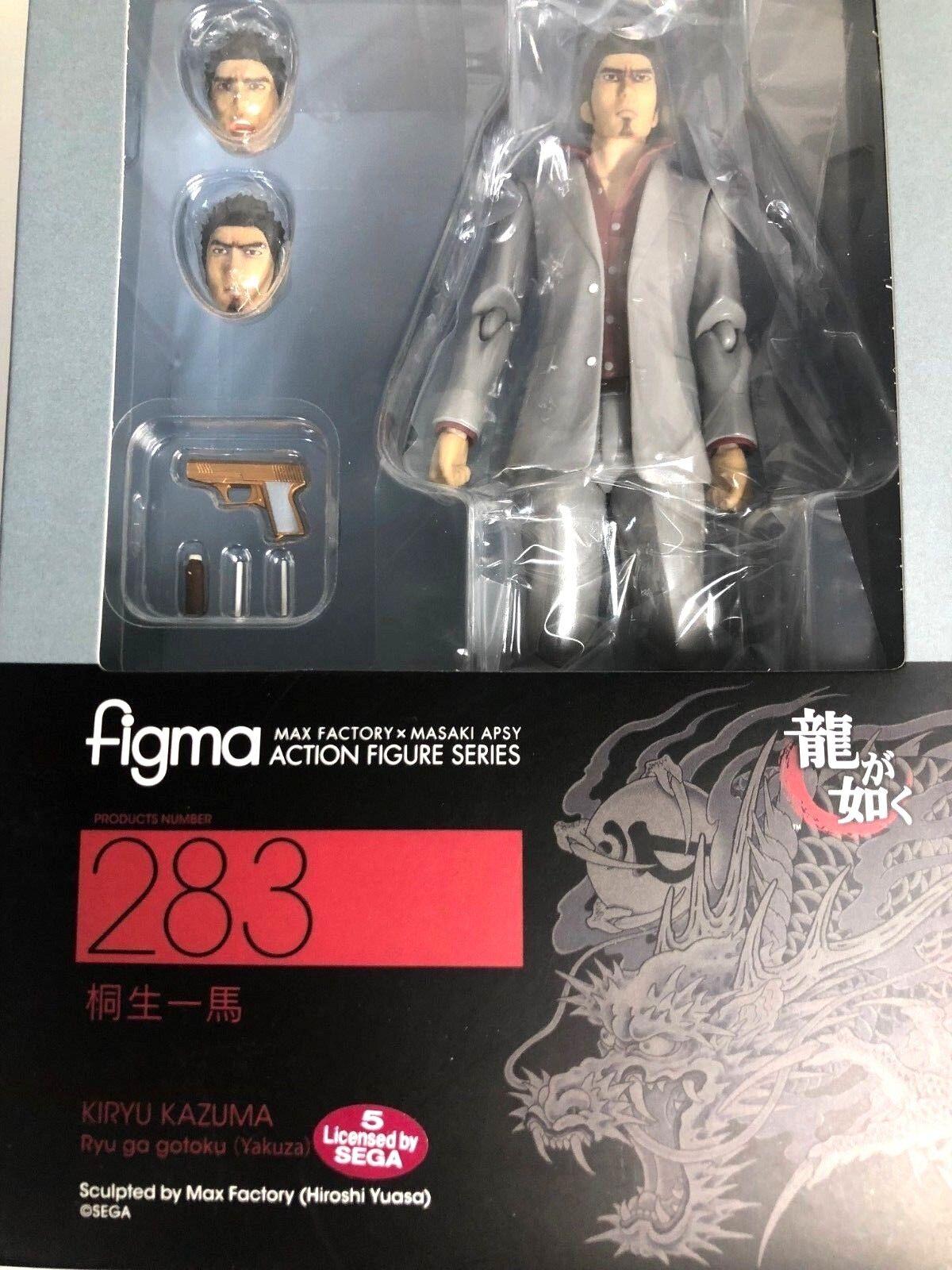 Envío gratuito de Japón auténtica Figma Kazuma Kiryu Ryu Ga Gotoku Max Factory