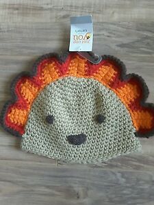 f514954df Carter's Turkey Knit Thanksgiving Hat Boys Girls size 0-12 Months ...
