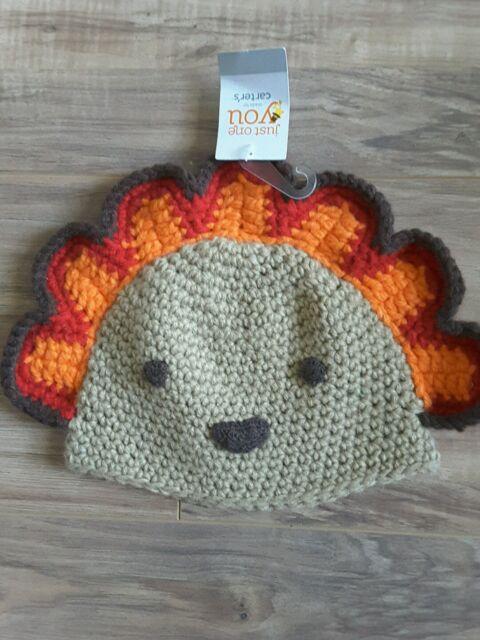 Buy Carter s Turkey Knit Thanksgiving Hat Infant Size 0-12 Months ... d960504c654