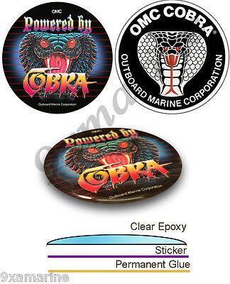 OMC King Cobra  Remastered Stern Drive Vinyl Decal Set. not OEM