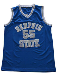 sports shoes 17cb4 22e54 Details about Lorenzen Wright Jersey 55 Memphis Tigers College Sewn  Basketball Jersey