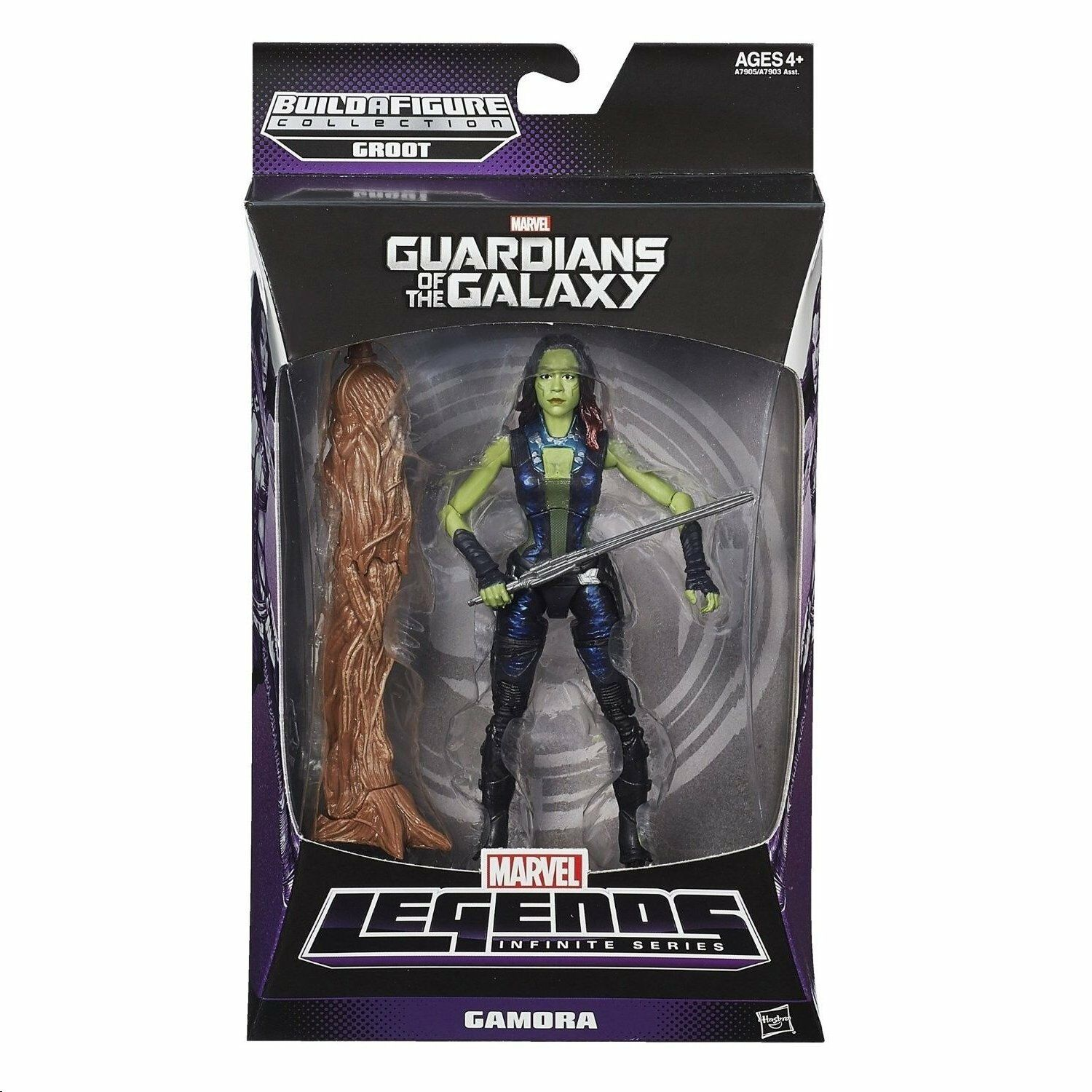GAMORA MARVEL LEGENDS GUARDIANS OF THE GALAXY ( GROOT SERIES ) ACTION FIGURE