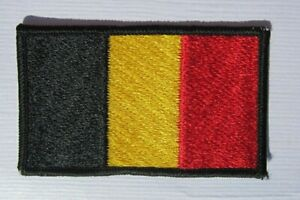 Belgien-Belgium-Flagge-Aufnaeher-Patch-5-x-8-cm-NEU-A54v