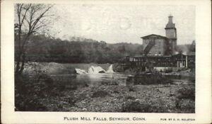 Seymour-CT-Plush-Mill-Falls-c1910-Postcard