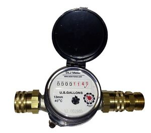 Garden Hose Thread Bronze Water Meter eBay